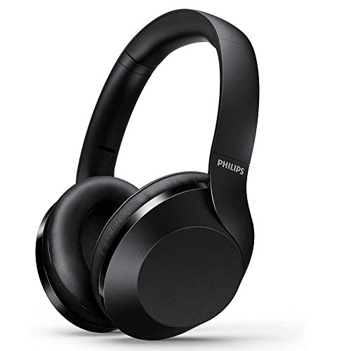 PHILIPS Noise Cancelling Headphones Wireless Bluetooth Over The Ear Headphones with Mic and Google...