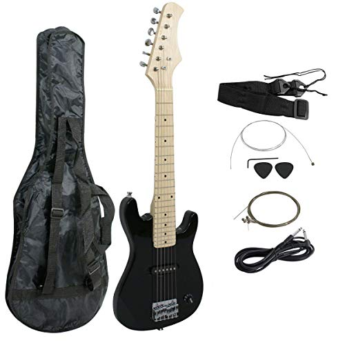 Smartxchoices 30' Kids Mini Electric Guitar Bass Guitar Bundle Kit for Beginners Starter with Gig...