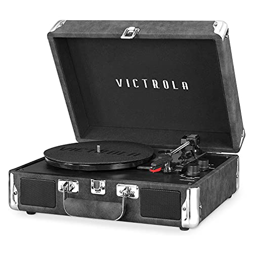 Victrola Vintage 3-Speed Bluetooth Portable Suitcase Record Player with Built-in Speakers   Upgraded...
