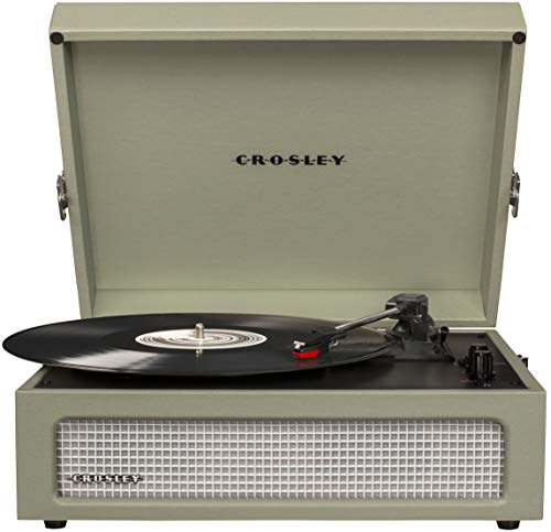 Crosley CR8017A-SA Voyager Vintage Portable Turntable with Bluetooth Receiver and Built-in Speakers,...