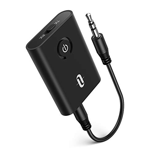 TaoTronics Bluetooth 5.0 Transmitter and Receiver, 2-in-1 Wireless 3.5mm Adapter (Low Latency, 2...