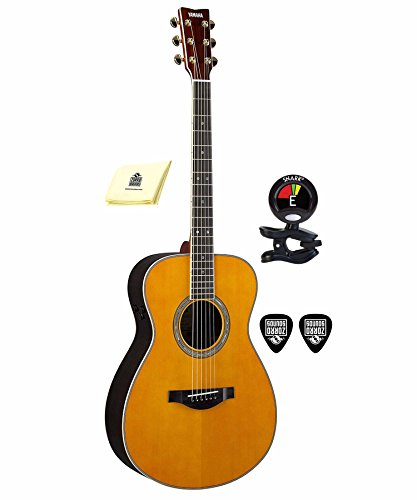 Yamaha LS-TA 6 String Acoustic Electric Guitar Package Includes Guitar Tuner with Guitar Picks and...