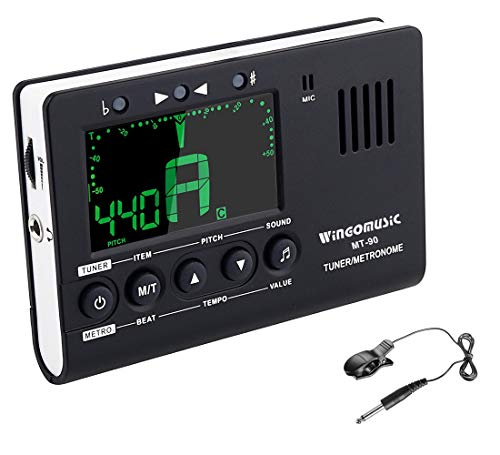 WINGO Digital Metronome, Tuner and Tone Generator - 3 in1 Device(Black)-for Chromatic, Guitar,...