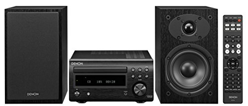 Denon D-M41 Home Theater Mini Amplifier and Bookshelf Speaker Pair - Compact HiFi Stereo System with...