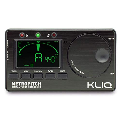 KLIQ MetroPitch - Metronome Tuner for All Instruments - with Guitar, Bass, Violin, Ukulele, and...