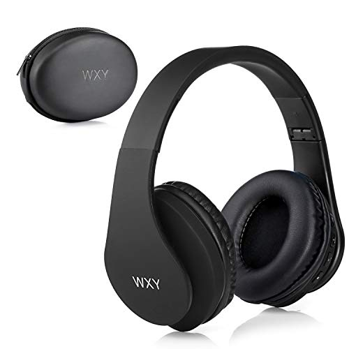 Over Ear Bluetooth Headphones, WXY Wireless Headset V5.0 with Built-in Mic, Micro TF, FM Radio, Soft...
