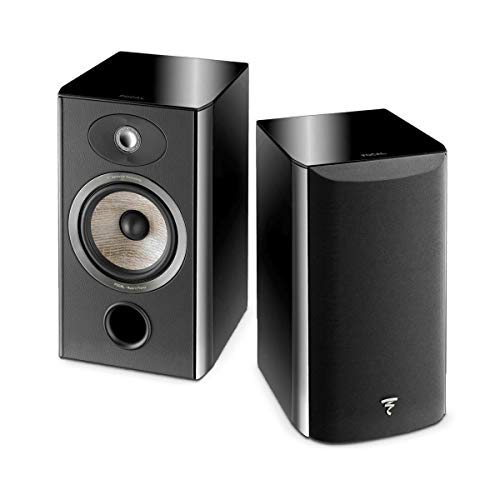 Focal Aria 906 2-Way Bass Reflex Bookshelf Speaker, Black Piano Lacquer, Pair