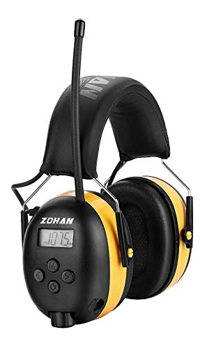 ZOHAN EM042 AM/FM Radio Headphone with Digital Display, Ear Protection Noise Reduction Safety Ear...
