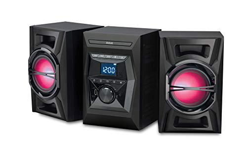 RCA (RS3698BL) 100W CD Stereo Audio Shelf System with Bluetooth Receiver and Wireless Technology -...