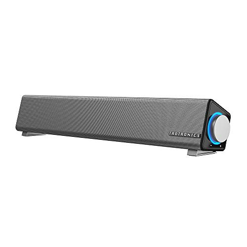 TaoTronics Computer Speakers, Wired Computer Sound Bar, Stereo USB Powered Mini Soundbar Speaker for...