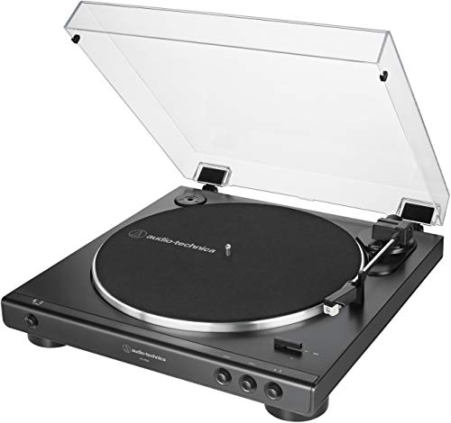 Audio-Technica AT-LP60X-BK Fully Automatic Belt-Drive Stereo Turntable, Black, Hi-Fi, 2 Speed, Dust...