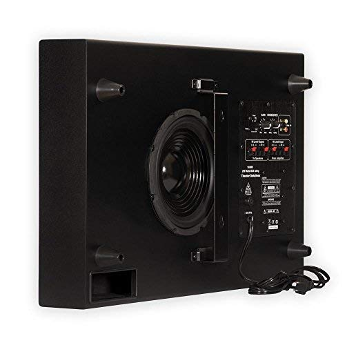 Theater Solutions SUB8S 250 Watt Surround Sound HD Home Theater Slim Powered Active Subwoofer...