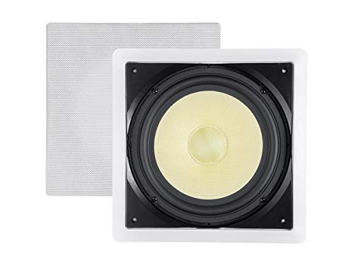 Monoprice Fiber In-Wall Speaker - 10 Inch (Each) 300W Subwoofer, Easy Installation And Paintable...