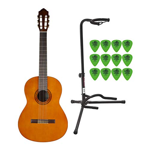 Yamaha C40 Gigmaker Classic Guitar Package with On Stage Guitar Stand and Dunlop Guitar Pick 12-Pack