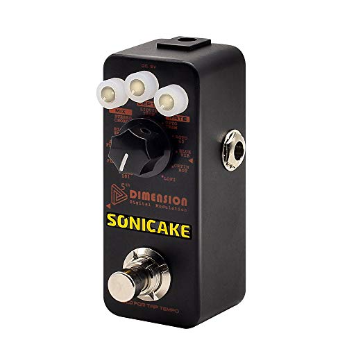 SONICAKE 5th Dimension Digital Modulation Guitar Effects Pedal 11 Mode of Phaser, Flanger, Chorus,...