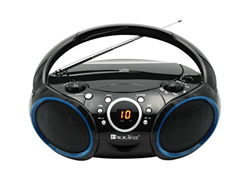 SINGING WOOD 030C Portable CD Player AM FM Analog Tuning Radio with Aux Line in, Headphone Jack,...