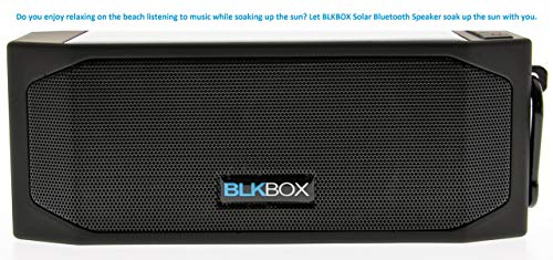 Wireless Solar Bluetooth Speaker for iOS, Androids, All Phones, Tablets, Computers (Black)