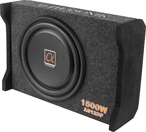 Alphasonik AS12DF 12' 1500 Watts 4-Ohm Down Fire Shallow Mount Flat Enclosed Sub woofer for Tight...