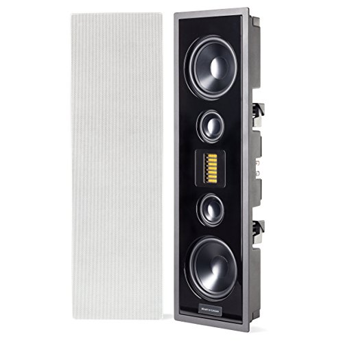 MartinLogan - Edge - High Performance In-Wall Speaker - Each - White