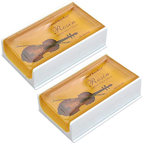 Rosin Violin Rosin 2 pack Big size Rosin Low Dust Natural Rosin for Violin Cello Viola Bows (Yellow)