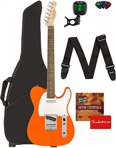 Fender Squier Affinity Series Telecaster Guitar - Maple Fingerboard, Butterscotch Blonde Bundle with...