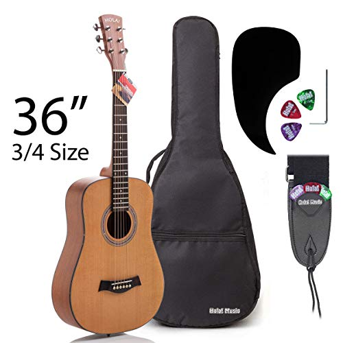 3/4 Size (36 Inch) Acoustic Guitar Bundle Junior/Travel Series by Hola! Music with Quality EXP16...