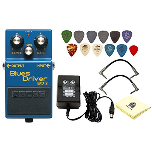 Boss BD-2 Blues Driver Pedal Distortion & Overdrive Guitar Effects Pedal with 1 x Power Supply 2 x...
