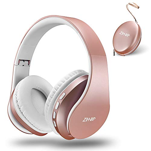 Bluetooth Headphones Over-Ear, Zihnic Foldable Wireless and Wired Stereo Headset Micro SD/TF, FM for...
