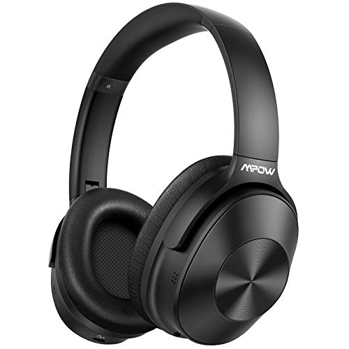 Hybrid Noise Cancelling Headphones, Mpow H12 Bluetooth Headphones Over Ear with Microphone, Wireless...