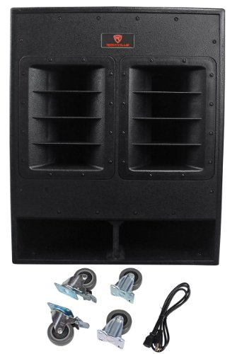 Rockville RBG18FA 18' 3000w Active Powered Pro Subwoofer Folded Horn PA/DJ Sub