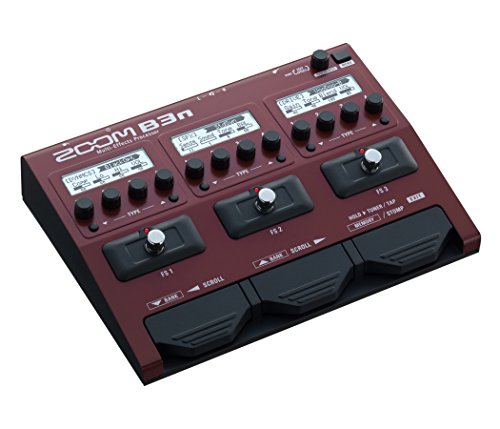 Zoom B3n Bass Guitar Multi-Effects Processor Pedal, With 60+ Built-in effects, Amp Modeling, Stereo...