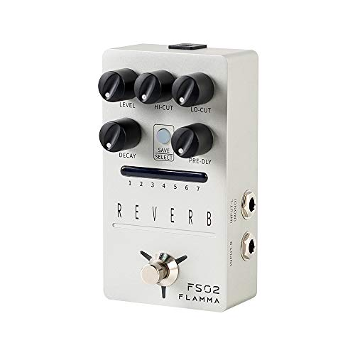 FLAMMA FS02 Stereo Digital Reverb Guitar Pedal with 7 Storable Preset Slot Buffer Bypass Trail On...