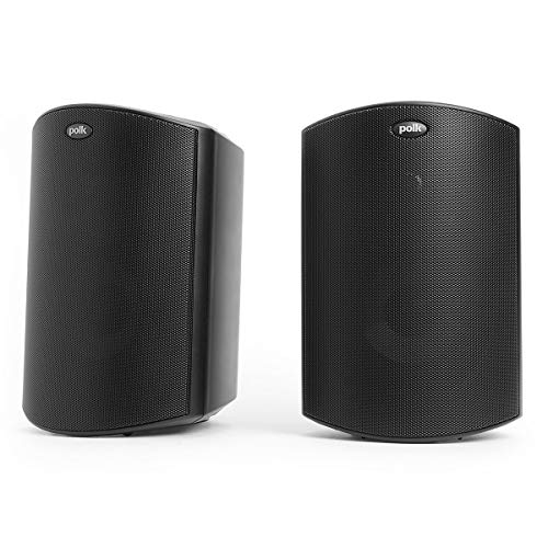 Polk Audio Atrium 4 Outdoor Speakers with Powerful Bass (Pair, Black), All-Weather Durability, Broad...