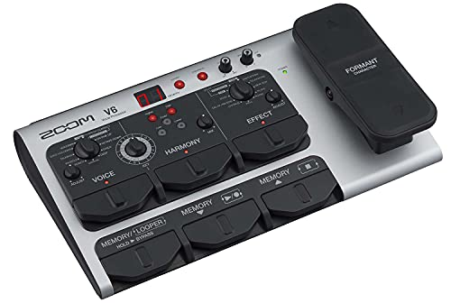 Zoom V6 Vocal Processor, Vocal Effects Pedal, Formant Pedal, Harmony, Looper, 10 Studio Grade...