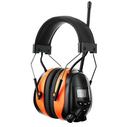 PROTEAR Bluetooth AM FM Radio Noise Reduction Safety Ear Muffs with Rechargeable Lithium Battery -...