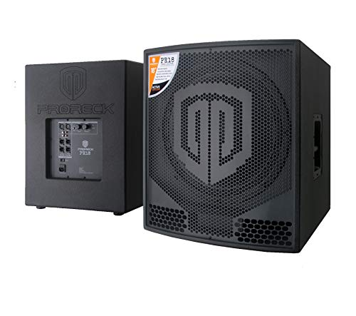 PRORECK PR18 18 inch 2000W P.M.P.O Active Powered PA DJ Subwoofer Cabinet