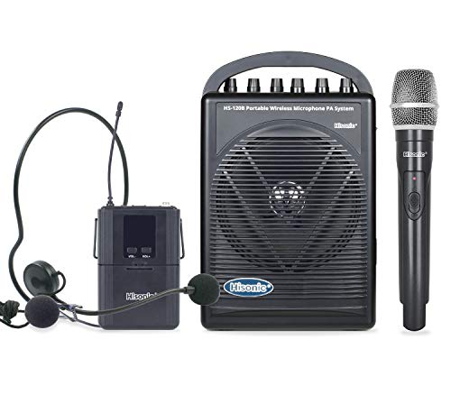 Hisonic HS120B Rechargeable & Portable PA (Public Address) System with Built-in UHF Wireless...