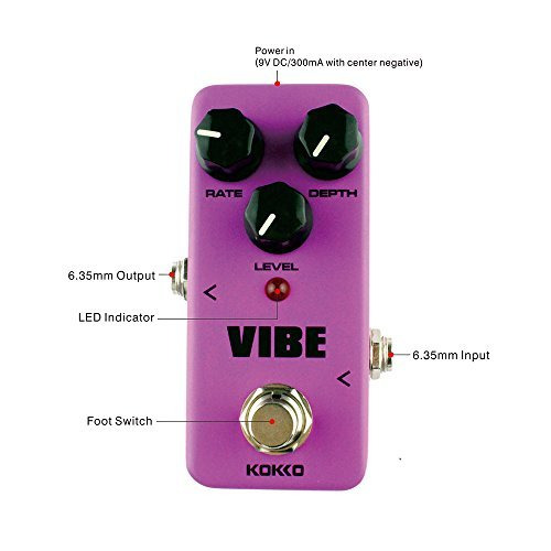 Guitar Mini Effects Pedal Vibe - Analog Rotary Speaker Effect Sound Processor Portable Accessory for...