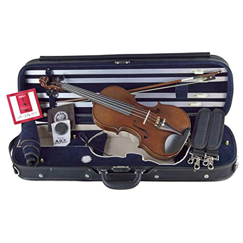 Louis Carpini G3 Violin 4/4 Full Size Bundle By Kennedy Violins - Carrying Case and Accessories...