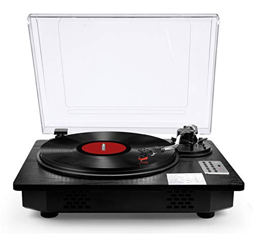 Vinyl Record Player Turntable with Bluetooth Input Output,LP Player with Speakers USB Vinyl to MP3...