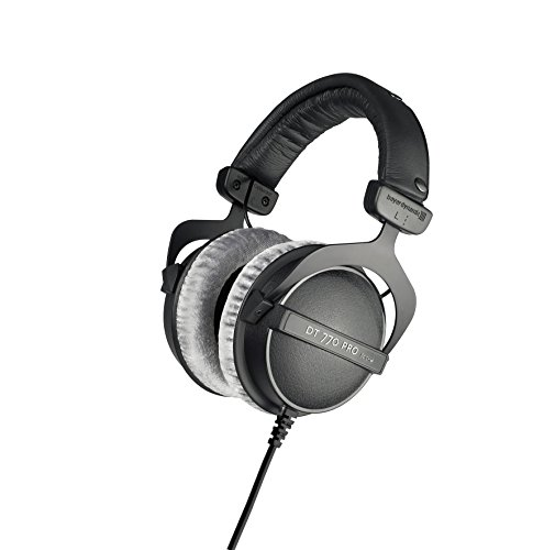beyerdynamic DT 770 PRO 80 Ohm Over-Ear Studio Headphones in Gray. Enclosed design, wired for...