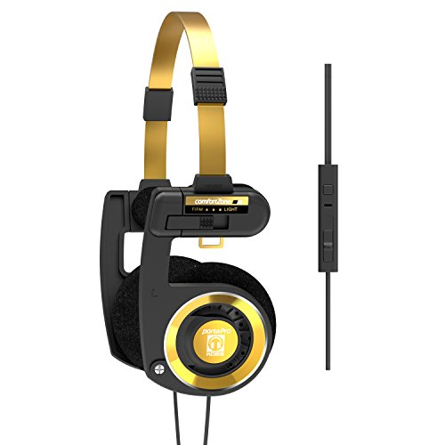 Koss Porta Pro Limited Edition Black Gold On-Ear Headphones, in-Line Microphone, Volume Control and...