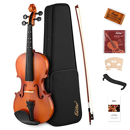 Eastar 4/4 Violin Set Full Size Violins for adults,EVA-2 Fiddle for Beginners Kids Students with...