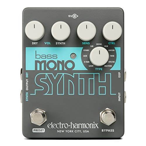 Electro Harmonix Bass Mono Synth Effects Pedal