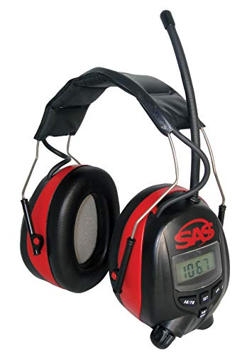 SAS Safety 6108 Digital Earmuff Hearing Protection with AM/Fm Radio & MP-3 Ready