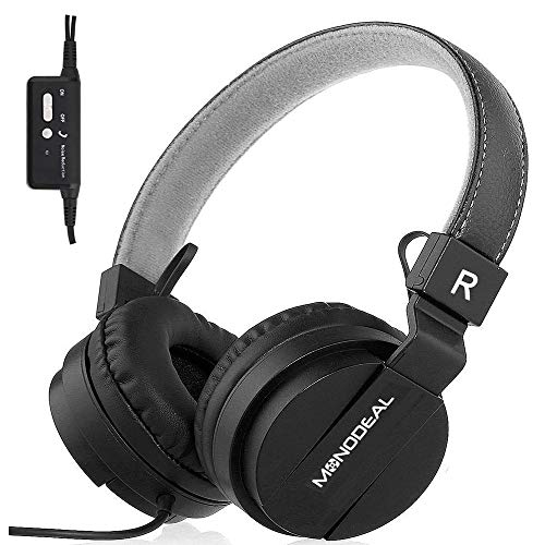 MONODEAL Kids Active Noise Cancelling Headphones, Children Girls Boys Teens Adults Foldable On Ear...