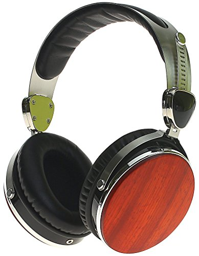 Symphonized Wraith 2.0 Premium Genuine Wood Over-Ear Headphones with In-Line Microphone, Tangle-Free...