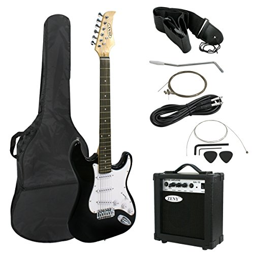 ZENY 39' Full Size Electric Guitar with Amp, Case and Accessories Pack Beginner Starter Package,...