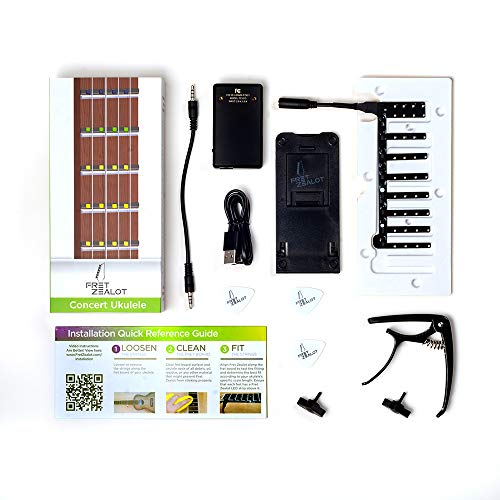 Fret Zealot LED Guitar Learning Accessory - EASIEST and BEST Method to Learn To Play a Guitar for...