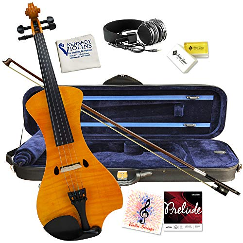 Electric Violin Bunnel NEXT Outfit 4/4 Full Size (HONEY)- Carrying Case and Accessories Included -...